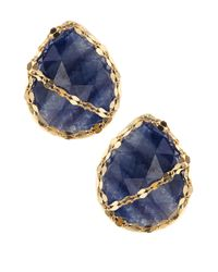 Lana Jewelry | Spellbound Blue Sapphire Stud Earrings | Lyst