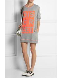 Richard Nicoll - Gray Discreet Printed Cotton-Jersey Sweatshirt Dress - Lyst