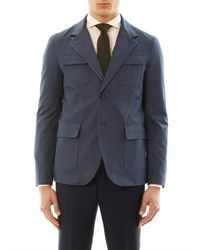 Gucci   Blue Azul Gabardine Four Pocket Jacket for Men   Lyst