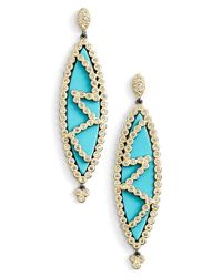 Freida Rothman | Metallic 'visionary' Marquise Drop Earrings | Lyst