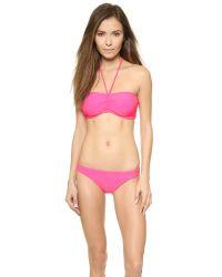Shoshanna Cinch Bandeau Top - Shocking Pink