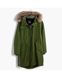 Madewell | Green Side-zip Field Parka | Lyst