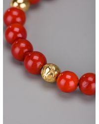 Nialaya - Red Beaded Bracelet for Men - Lyst