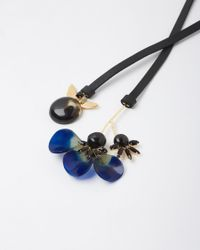 Marni | Black Floral Horn Necklace | Lyst