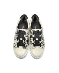 3.1 Phillip Lim Black Morgan Off White Leather Low Top Sneaker