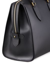 Alexander McQueen Black Heroine Leather Zip-Up Tote Bag