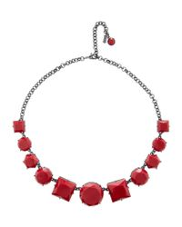 Hobbs - Red Ellie Necklace - Lyst