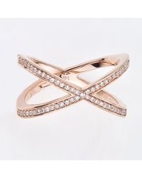 Alexa Leigh | Metallic Pave Tryst Ring, Gold | Lyst