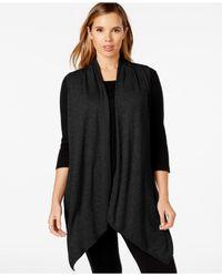 Calvin Klein | Black Performance Plus Size Draped Cardigan Vest | Lyst