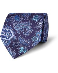 Etro | Blue Paisley Woven Silk Tie for Men | Lyst
