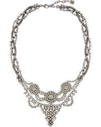 DANNIJO | Metallic Black Crystal Vala Statement Necklace | Lyst