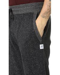 Steven Alan | Black Tiger Fleece Sweatpants for Men | Lyst