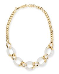 Alexis Bittar - Metallic Lucite Curb-Link Necklace (Made To Order) - Lyst
