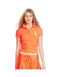 Polo Ralph Lauren - Orange Skinny-fit Big Pony Polo Shirt - Lyst