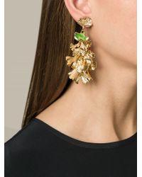 Aurelie Bidermann | Metallic Ginkgo Clip-on Earrings | Lyst