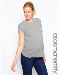 ASOS Gray Exclusive T-shirt With Crew Neck And Cap Sleeve
