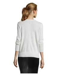Vince - Natural Cloud Cashmere Heather Knit Seam Detail Sweater - Lyst