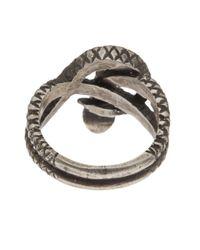 Zoe Chicco Metallic Silver Snake Ring