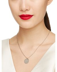 kate spade new york | Metallic Say Yes Partners In Crime Pendant | Lyst