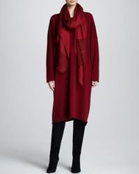 Eskandar Rawedge Cashmere Dress Red