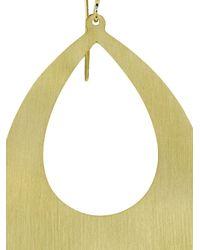 Irene Neuwirth | Metallic 18kt Gold Flat Pear Shape Earrings | Lyst