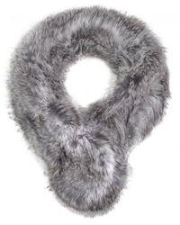 Yves Salomon | Gray Grey Fur Collar | Lyst
