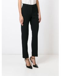 Boutique Moschino - Black Straight Leg Trousers - Lyst