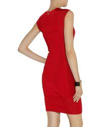 Roberto Cavalli Red Knitted Jacquard Dress