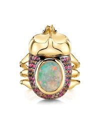 Daniela Villegas - Pink Anthousai Nymph Of The Flowers Ring - Lyst
