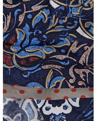 La Perla Blue Floral-Print Bikini Briefs