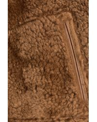 Jil Sander - Sheepskin Jacket With Leather - Brown for Men - Lyst