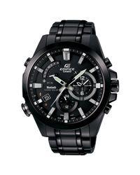 G-Shock Metallic Eqb-510d-1aer Men's Edifice Stainless Steel Bracelet Strap Watch for men
