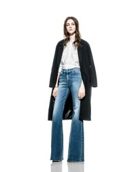 7 For All Mankind - Coat Black - Lyst