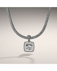 John Hardy - Metallic Medium Square Pendant On Chain Necklace - Lyst