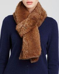 Maximilian | Brown Maximilian Knitted Mink Scarf | Lyst