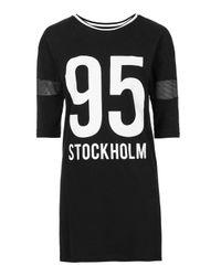 TOPSHOP - Black Stockholm Tee Dress - Lyst