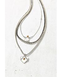 Urban Outfitters Metallic Shannons Layering Necklace