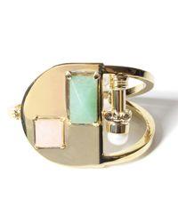 Volha | Metallic Aventurine Gold Bracelet | Lyst
