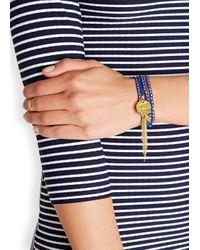 Ashiana | Blue Savannah 24kt Gold-plated Wrap Bracelet | Lyst