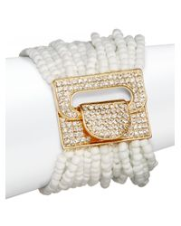 Saks Fifth Avenue | White Beaded Strand Bracelet | Lyst