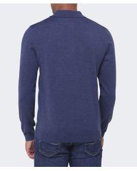 BOSS - Blue Banet-e Wool Polo Shirt for Men - Lyst