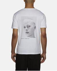 Raf Simons White Isolated Heroes Print T-shirt for men