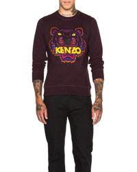 KENZO Purple Men's Icons Tiger Sweatshirt