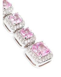 CZ by Kenneth Jay Lane | Pink Princess Cut Cubic Zirconia Drop Earrings | Lyst