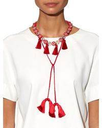 Shourouk - Red Sautoire Amerindien Necklace - Lyst