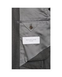 Richard James Gray Worsted Two-Button Suit for men