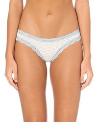 Cheek Frills | Multicolor Polka-dot Scalloped-lace Knickers | Lyst