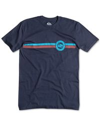 Quiksilver | Blue Finish Line Graphic T-shirt for Men | Lyst
