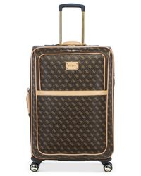 "Guess Brown Logo Affair Dlx 25"" Spinner Suitcase for men"