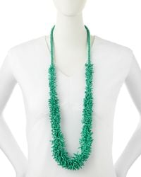 Kenneth Jay Lane | Green Coral-strand Cluster Necklace | Lyst